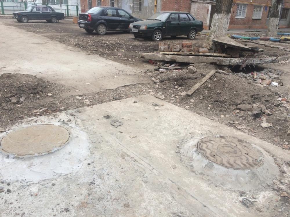В Таганроге разрытие устранили, но почему-то о мусоре забыли