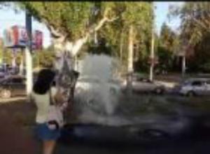 В День города для жителей забил шикарный фонтан в Таганроге