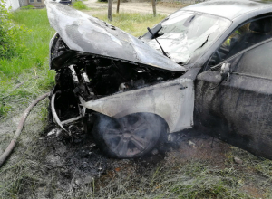 Красавец BMW  сгорел в Таганроге