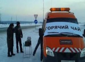 На трассах Ростовской области работают спасатели