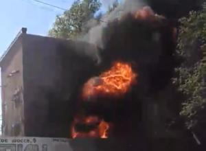 В Таганроге загорелась трансформаторная подстанция