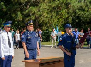 В Таганрогском  авиагородке принимали присягу, демонстрировали технику и смотрели праздничный концерт