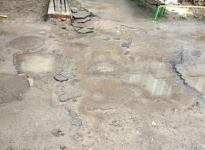 Жители дома  по Шаумяна, 22 обратились к В. Михайлову помочь убрать «раскопки»