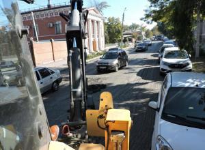 Дорожный ремонт на Греческой вызвал восторг  таганрожцев