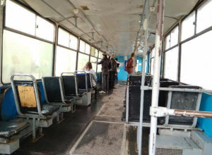 Трамваи с протекающей крышей возмутили жителя Таганрога