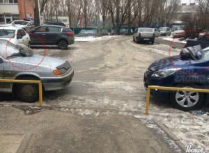 «Народный штраф» для нерадивых водителей – два пакета с мусором для двух машин в Ростове