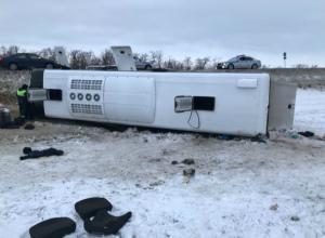 Авария с автобусом Саратов — Ростов произошла сегодня утром в Белокалитвинском районе