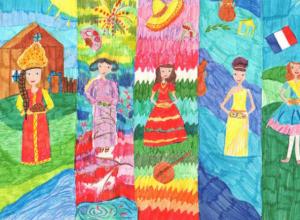 Таганрогские казаки провели конкурс детского рисунка