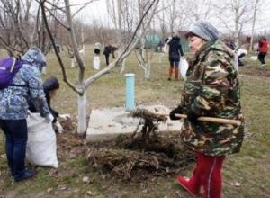 170 неравнодушных жителей двух микрорайонов Таганрога собрали более 40 кубометров мусора