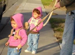Дети на поводке в парке Таганрога привели горожан в шок