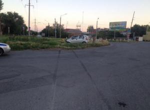 В Таганроге водитель Daewoo Matiz врезался в газовую трубу