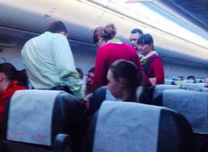 Житель Таганрога  оскандалился  на борту самолета «Болонья - Ростов»