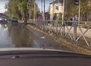 Сразу в двух районах Таганрога случился потоп