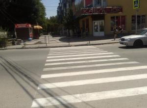В Таганроге пешеходный переход уперся в забор