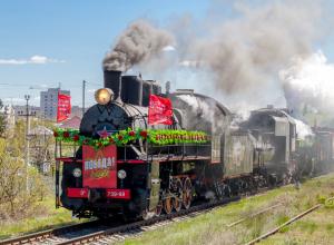 Ретро поезд «Победа» сделает остановку в Таганроге 15 апреля