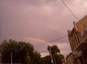 Двойная радуга в небе Таганрога заставила горожан поверить в приметы