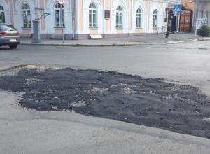 Качество ремонта дорожного полотна в центре Таганрога насторожило автолюбителей