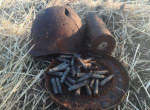 Под Таганрогом нашли останки сапера и целый арсенал времен ВОВ