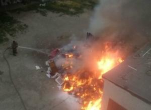 В Таганроге начали гореть свалки