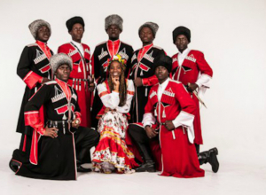 Для праздничного настроения таганрогских женщин песни споют  казаки-негры  из Краснодара