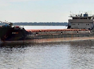 Не поделили Азовское море  и столкнулись два судна, одно из них из Таганрога