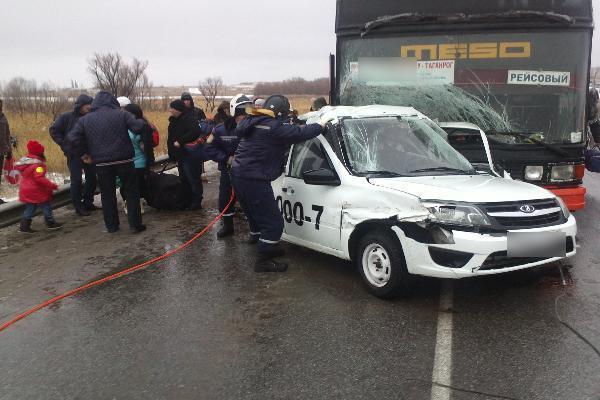 Натрассе М-4 «Дон» пассажирский автобус попал вДТП