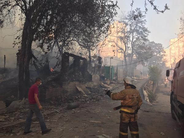 Пожар вРостове-на-Дону 21 08 2017: режим ЧС, фото, видео, причины, детали