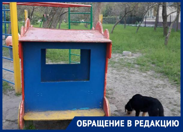 Таганроженка рассказала про  убогую детскую площадку