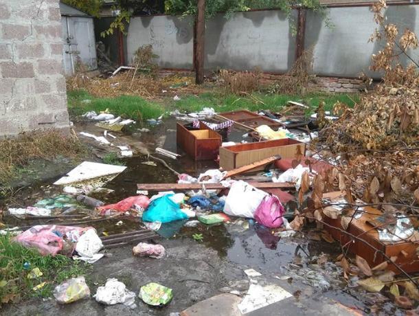 На улице Дзержинского в Таганроге уже наступил мусорный коллапс