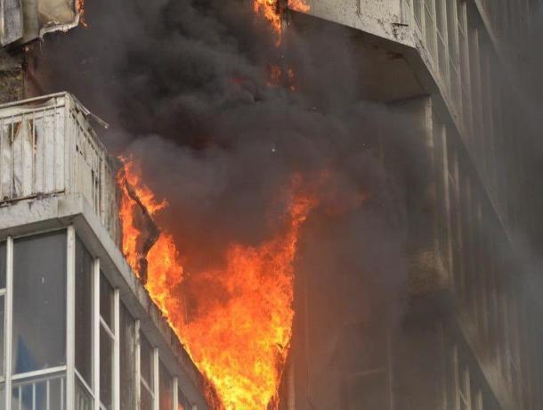 Пожар на Вишневой в Таганроге оставил без крова многодетную мать