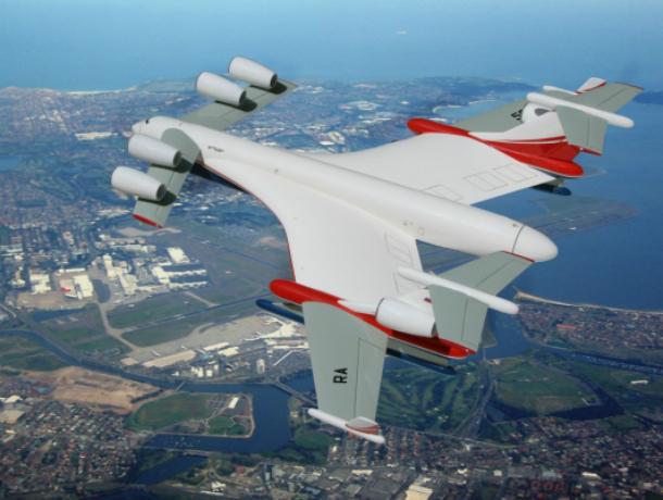 В ТАНТК  имени Г.М. Бериева  ведется разработка сверхтяжелого транспортного гидросамолета Бе-2500
