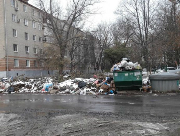 На мусорный коллапс  по Л. Чайкиной в Таганроге жители просят обратить внимание властей города