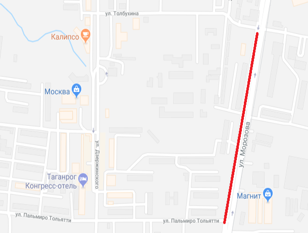 Перекрытие проезда на улице Морозова продлили еще на месяц