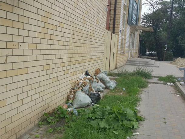 Красивый «Светофор» в Таганроге «облагородили» мусорными мешками