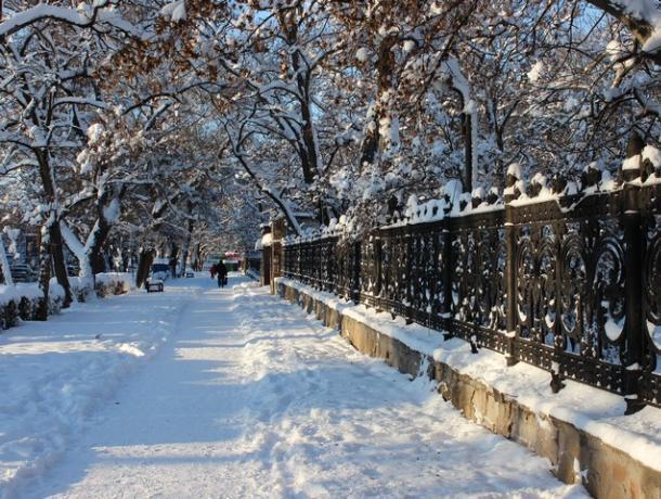 Грядущая неделя в Таганроге будет снежной, но в пятницу резко потеплеет