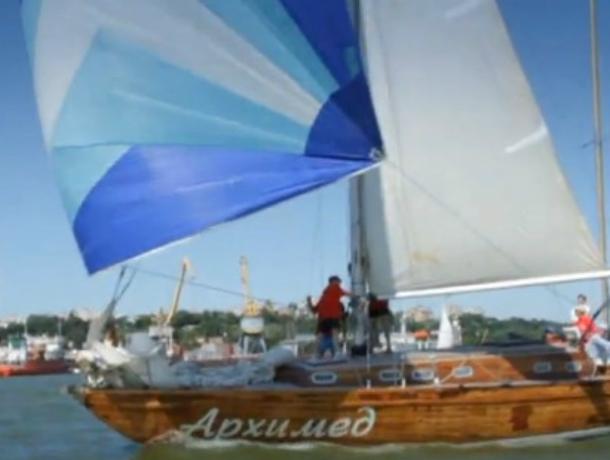 Первая яхта  «Архимед» из Таганрога преодолела Керченский пролив и полюбовалась Крымским мостом