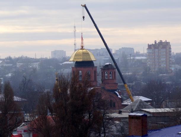 У Свято-Георгиевского храма в Таганроге появился 17-метровый купол
