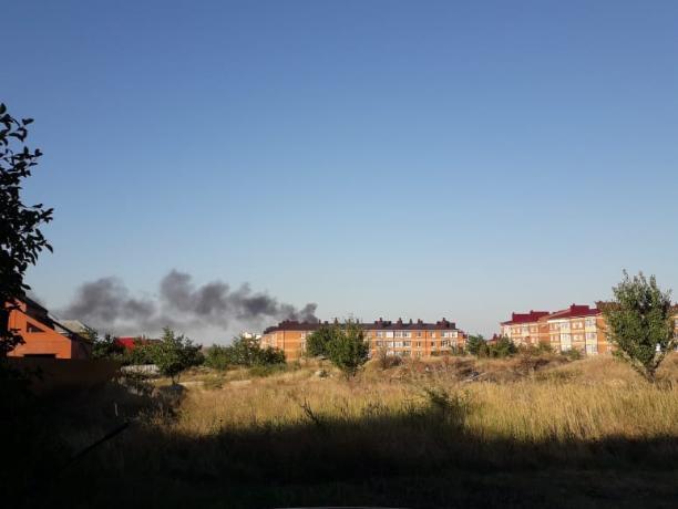 Таганрогская свалка на Николаевском шоссе продолжает гореть