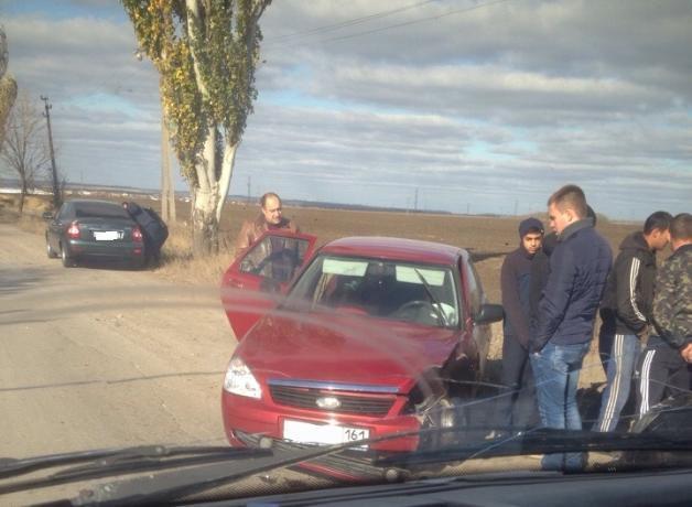 На злополучном въезде в Таганрог вновь произошла авария