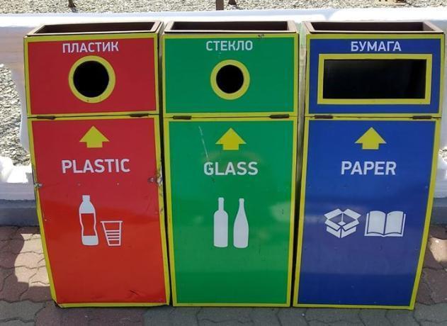 Нам так не жить, - сказала таганроженка, увидев красивые мусорные контейнеры