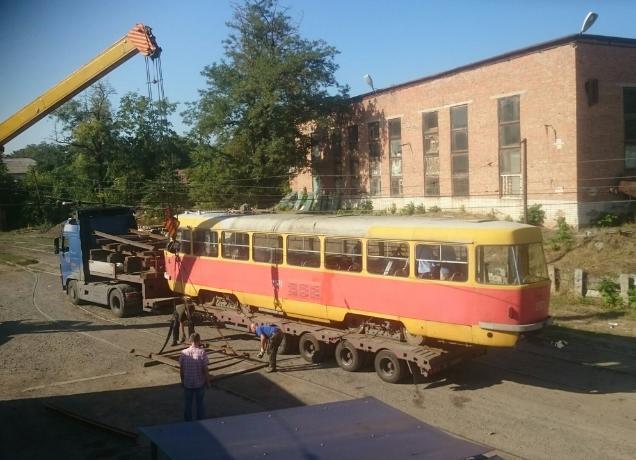 В Таганрог «приехал» волгоградский ретро-трамвай для съемок в фильме Тодоровского