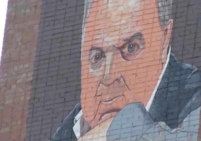 Портрет известного таганрожца Михаила Танича появился на стене жилого дома
