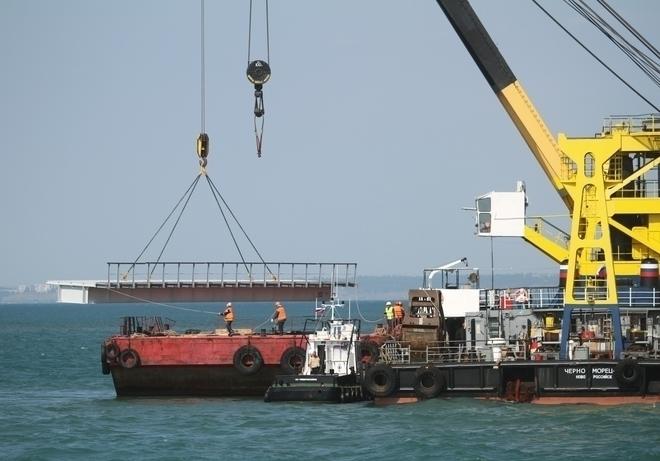 Ущерб, нанесенный турецким сухогрузом рабочему мосту, оценивается в120 млн руб.