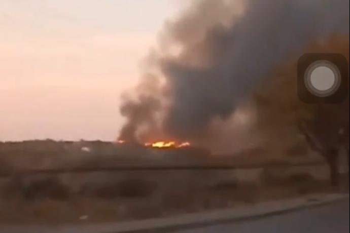 Таганрожцы страдают от не перестающей гореть свалки на Николаевском шоссе