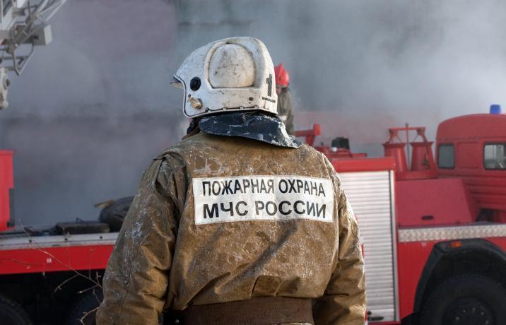 Под Таганрогом сгорело здание «Казачьего центра им. Герасименко»