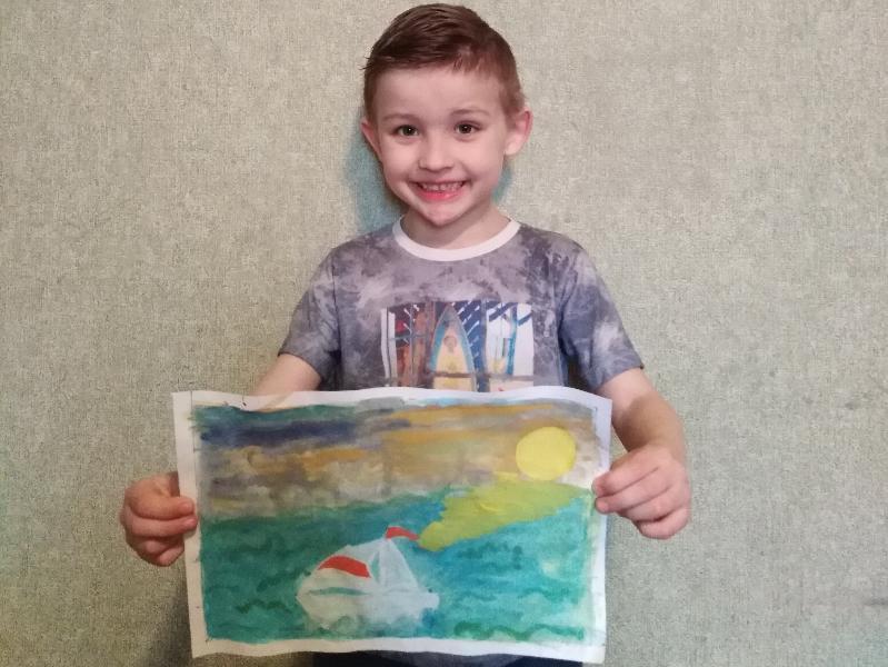Максим Винников нарисовал белоснежную яхту, на которой будет летом отдыхать