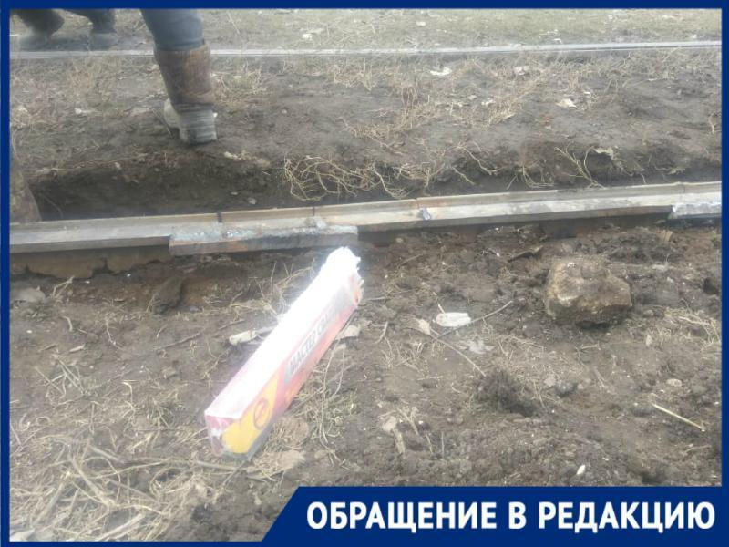 В Таганроге из-за ремонта трамвайных рельс был остановлен маршрут № 2