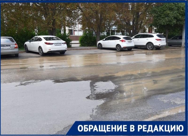 Снова «плывет» улица Дзержинского в Таганроге