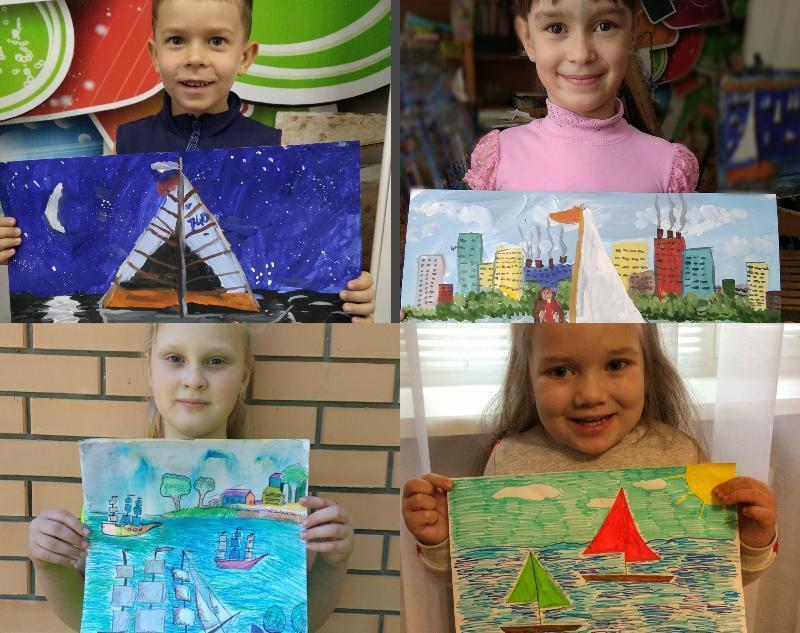 Свои работы на конкурс «Дети рисуют море и яхты» прислали еще четверо таганрожцев