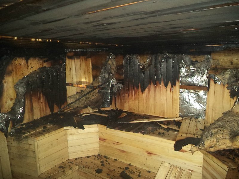 В Таганроге на выходных сгорела баня